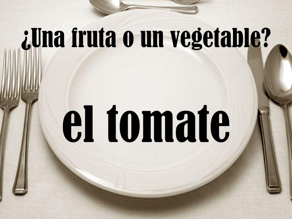 ¿Una fruta o un vegetable