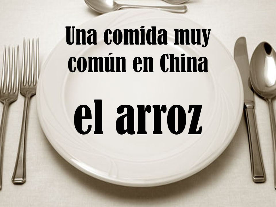 Una comida muy común en China el arroz