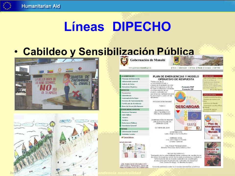 Líneas DIPECHO Cabildeo y Sensibilización Pública