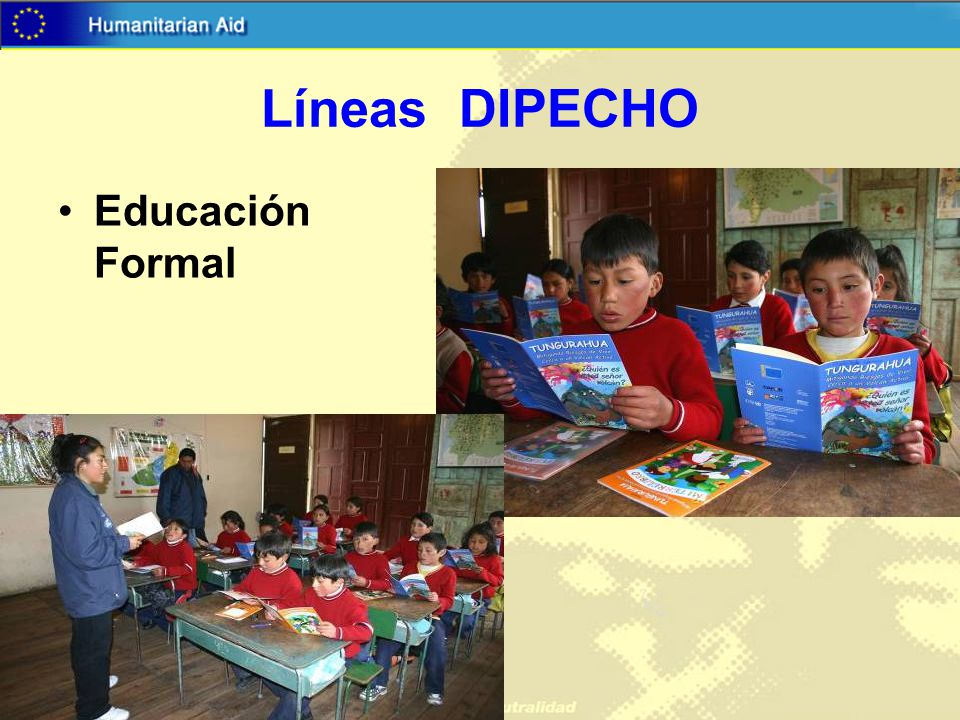 Líneas DIPECHO Educación Formal 01.08.05 Education