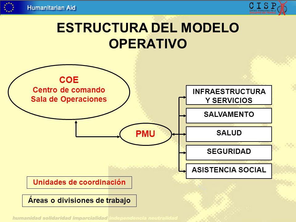 ESTRUCTURA DEL MODELO OPERATIVO