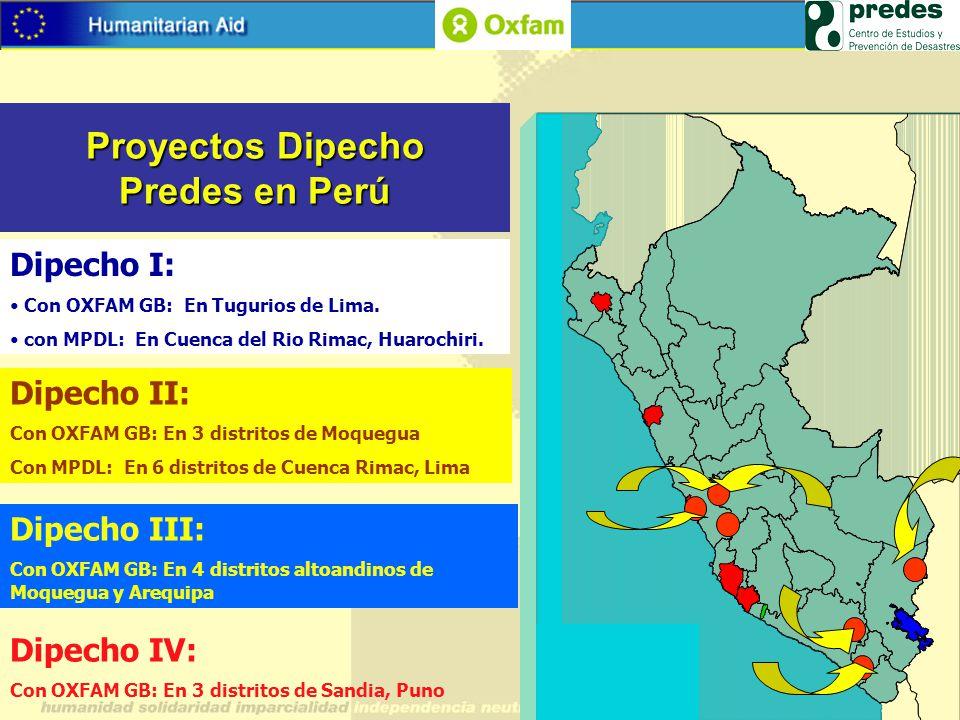 Proyectos Dipecho Predes en Perú