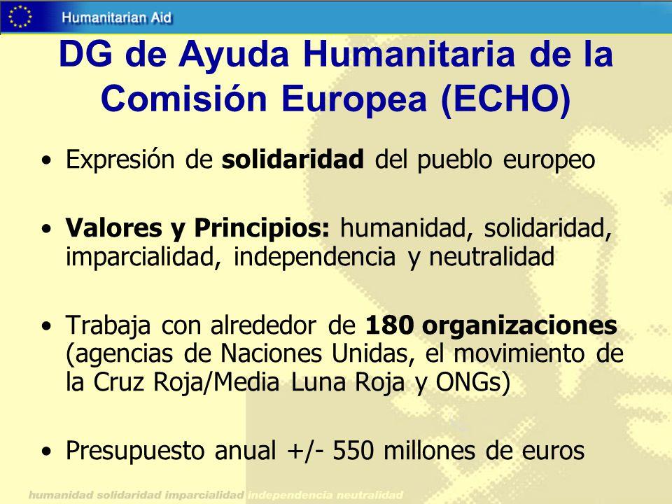 DG de Ayuda Humanitaria de la Comisión Europea (ECHO)