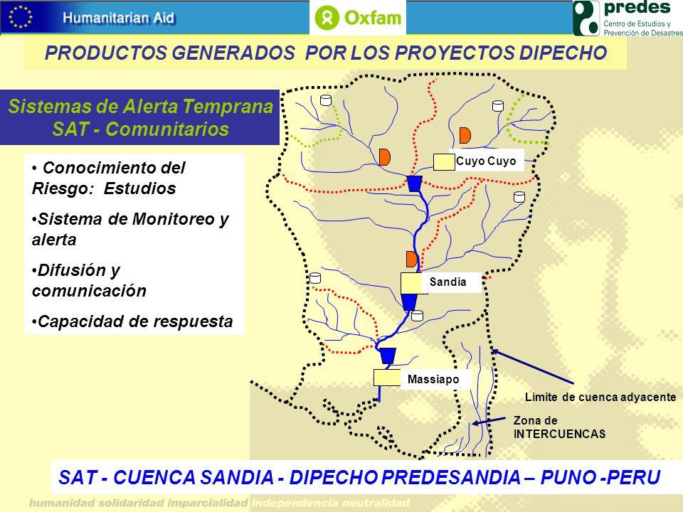 SAT - CUENCA SANDIA - DIPECHO PREDESANDIA – PUNO -PERU