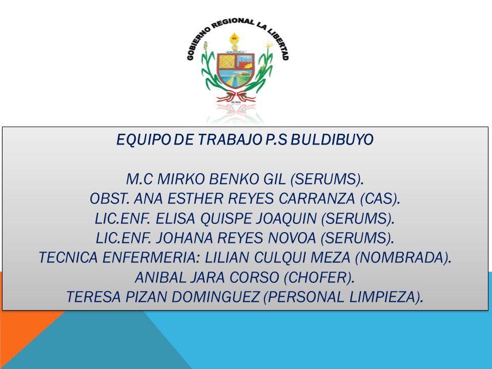 EQUIPO DE TRABAJO P.S BULDIBUYO