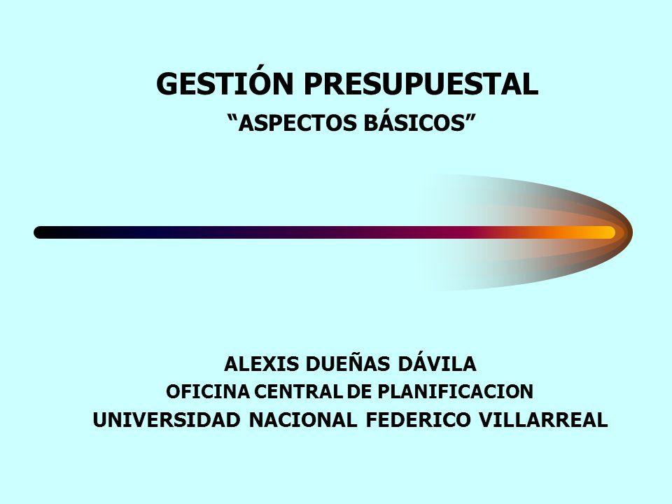 GESTIÓN PRESUPUESTAL ASPECTOS BÁSICOS