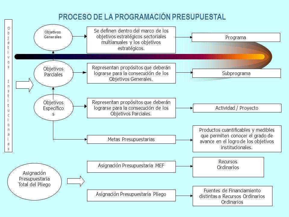 PROCESO DE LA PROGRAMACIÓN PRESUPUESTAL