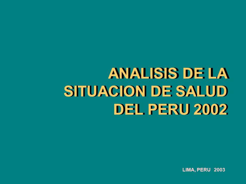 ANALISIS DE LA SITUACION DE SALUD DEL PERU 2002