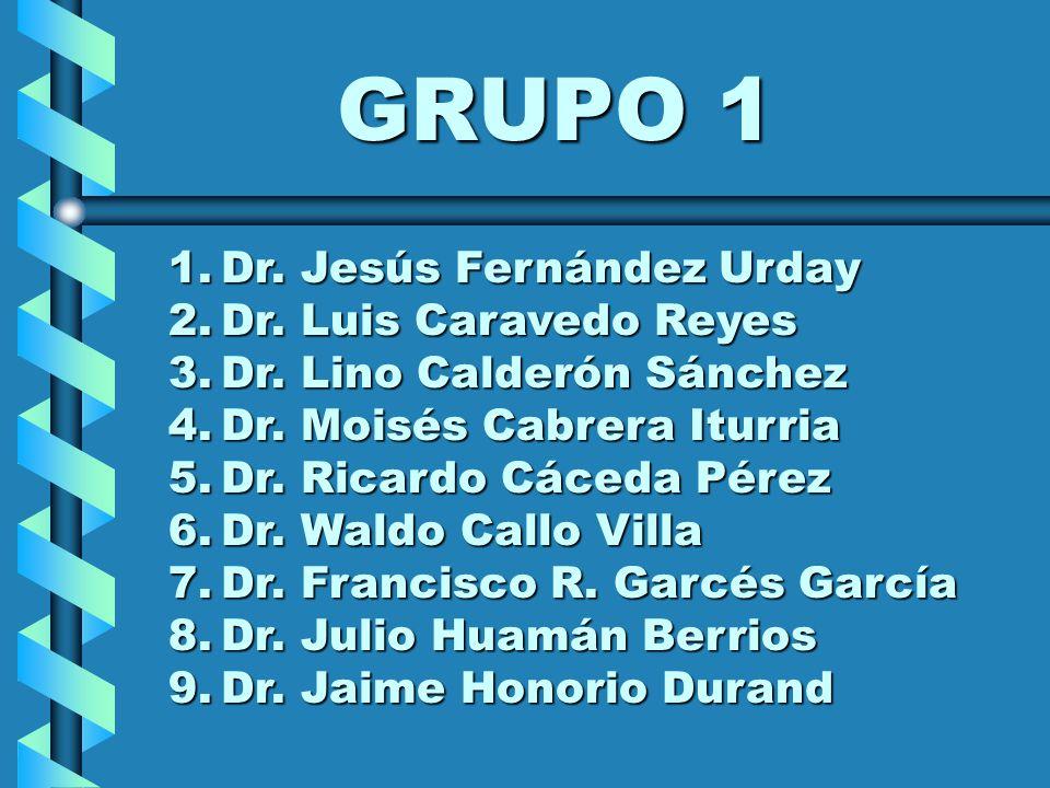 GRUPO 1 Dr. Jesús Fernández Urday Dr. Luis Caravedo Reyes