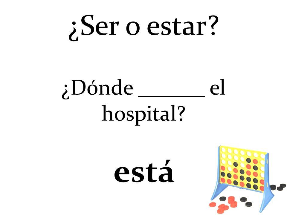¿Ser o estar ¿Dónde el hospital está