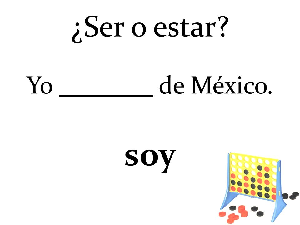 ¿Ser o estar Yo de México. soy