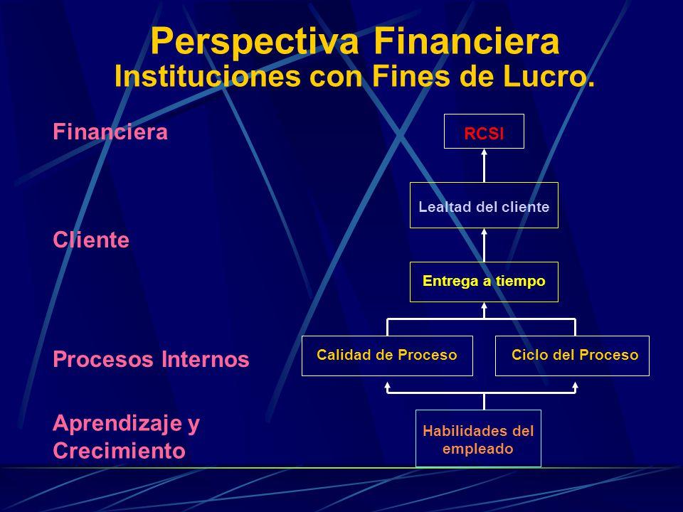 Perspectiva Financiera Instituciones con Fines de Lucro.