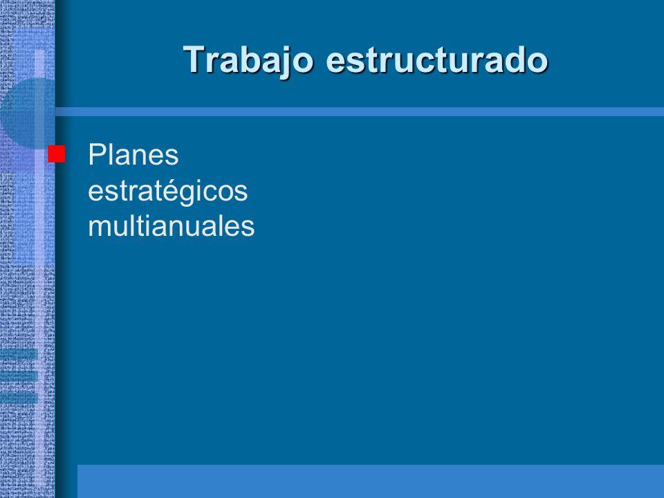Trabajo estructurado Planes estratégicos multianuales