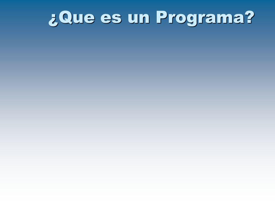 ¿Que es un Programa