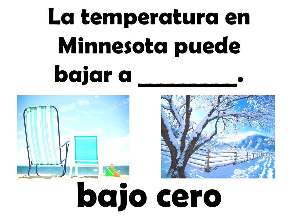 La temperatura en Minnesota puede bajar a _________.