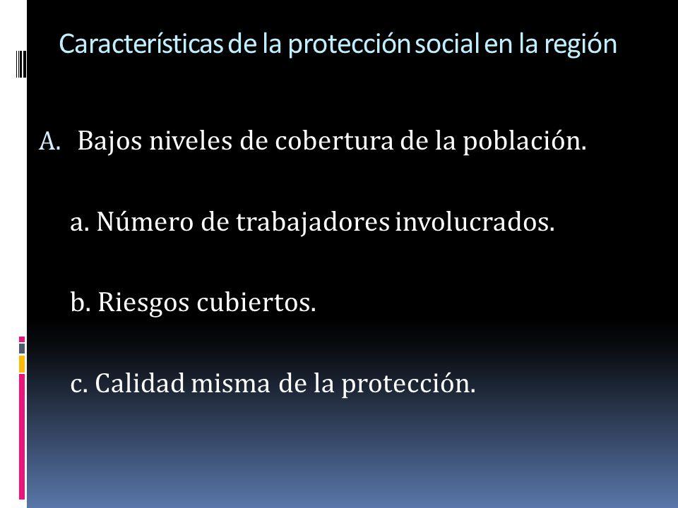 Características de la protección social en la región