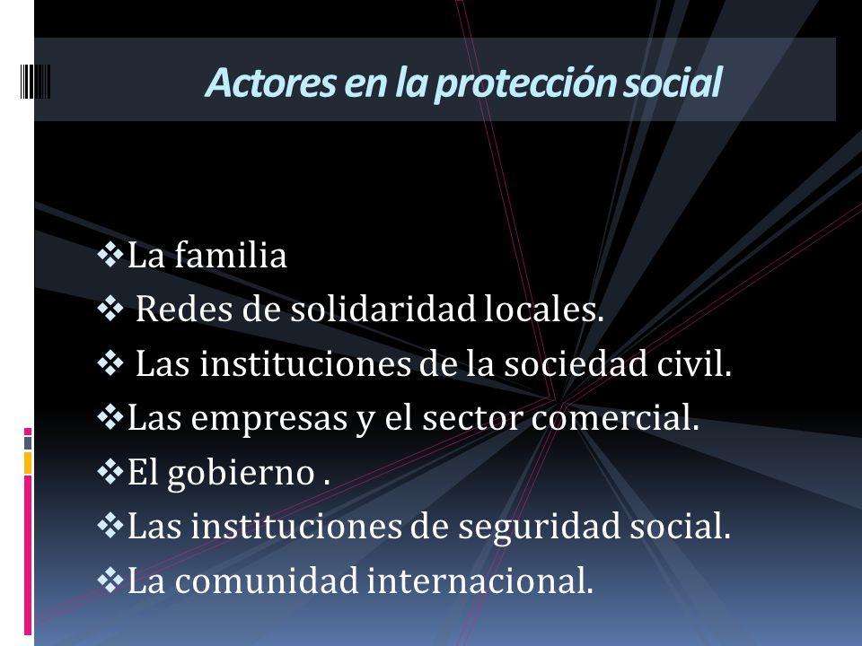 Actores en la protección social