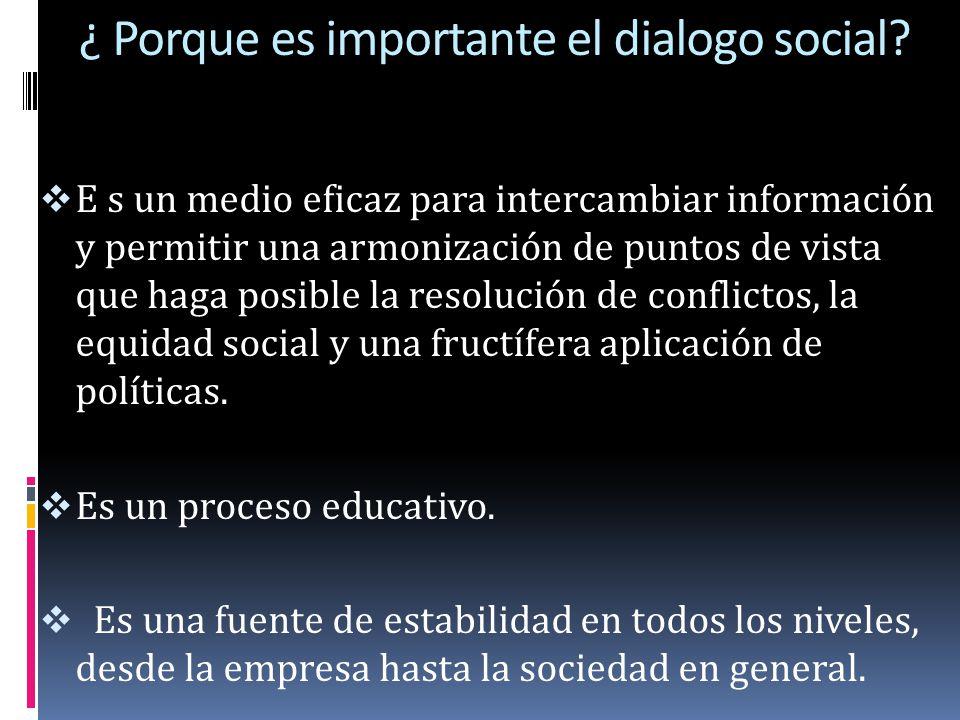 ¿ Porque es importante el dialogo social