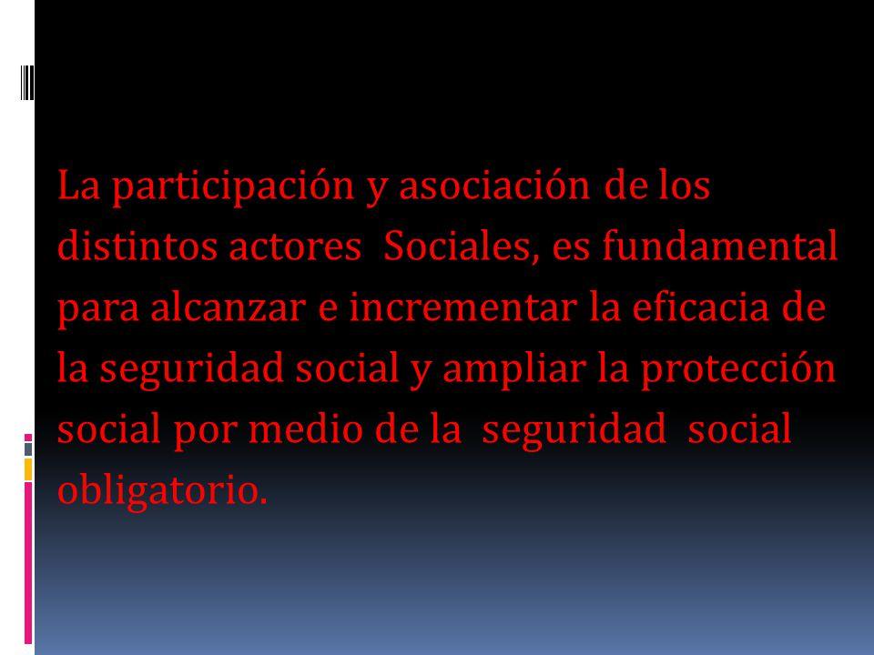 La participación y asociación de los