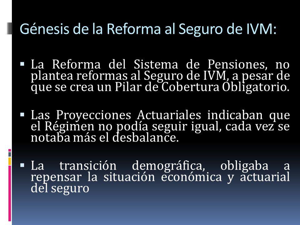 Génesis de la Reforma al Seguro de IVM: