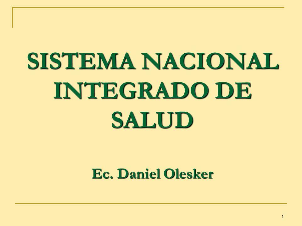 SISTEMA NACIONAL INTEGRADO DE SALUD Ec. Daniel Olesker