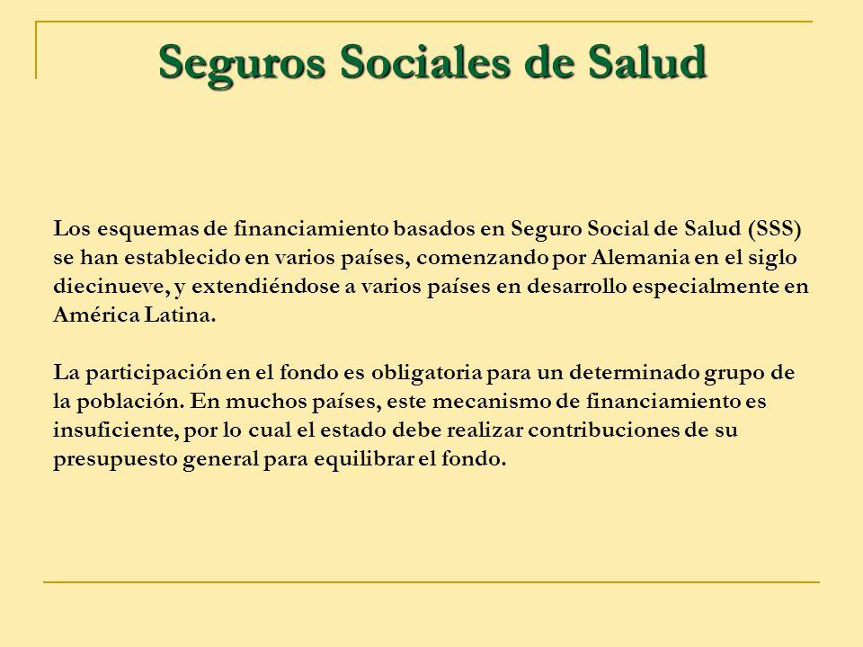 Seguros Sociales de Salud