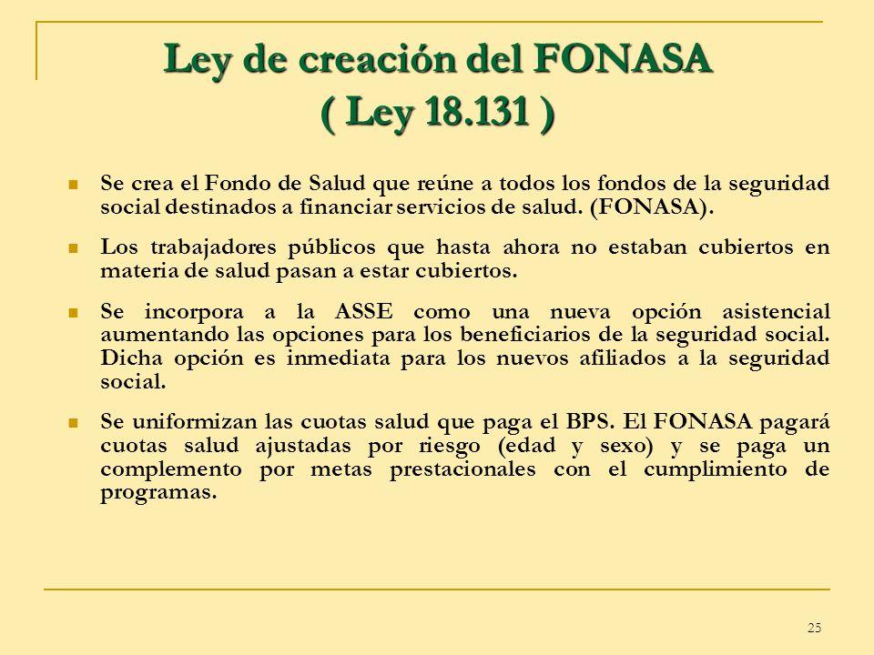 Ley de creación del FONASA ( Ley 18.131 )