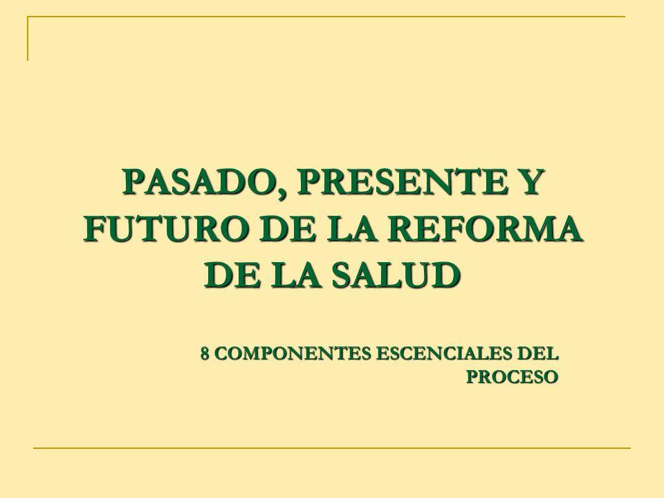 PASADO, PRESENTE Y FUTURO DE LA REFORMA DE LA SALUD