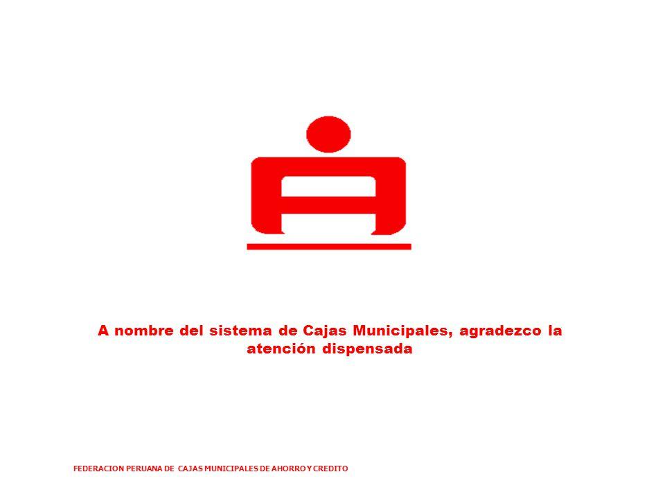 FEDERACION PERUANA DE CAJAS MUNICIPALES DE AHORRO Y CREDITO