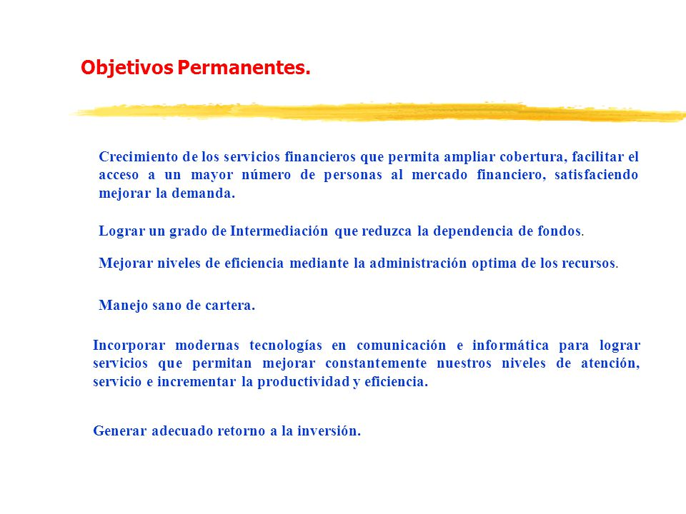 Objetivos Permanentes.
