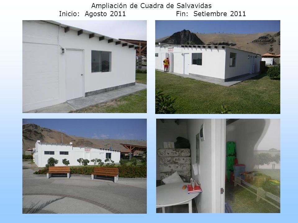 Ampliación de Cuadra de Salvavidas Inicio: Agosto 2011