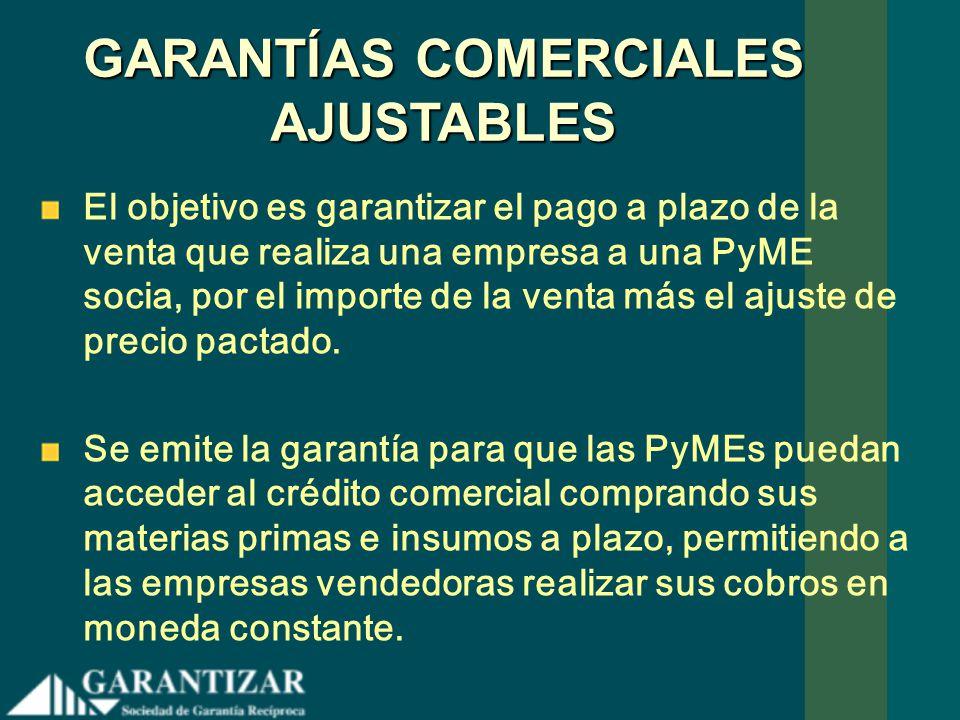 GARANTÍAS COMERCIALES AJUSTABLES