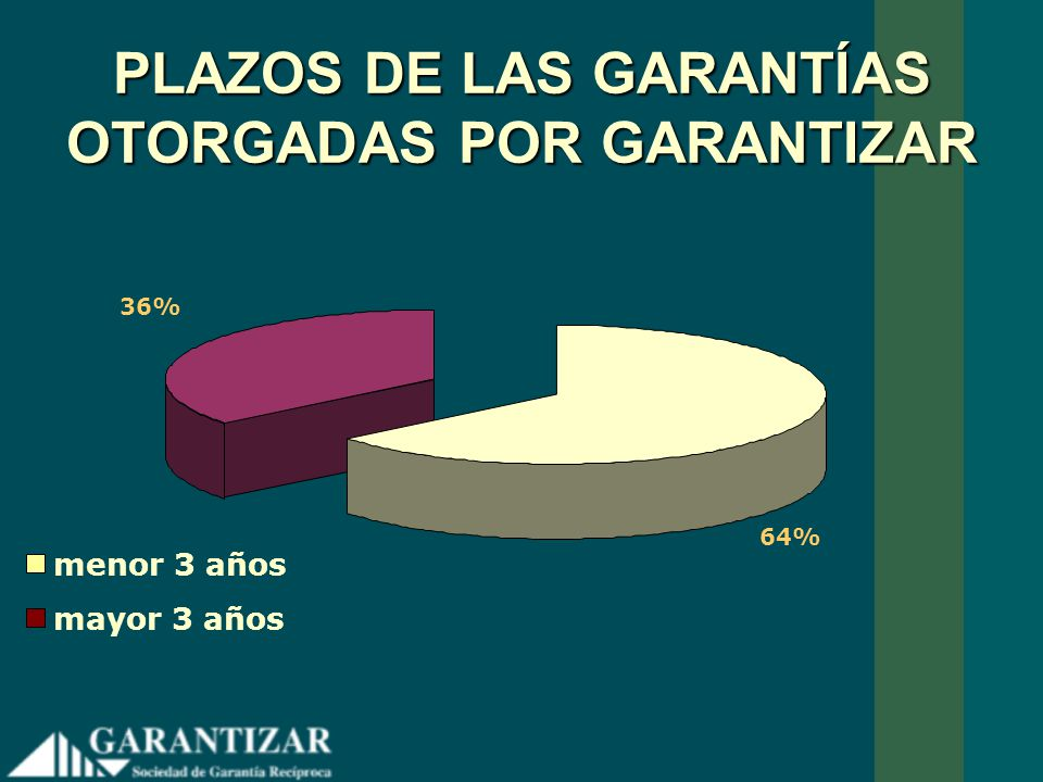 PLAZOS DE LAS GARANTÍAS OTORGADAS POR GARANTIZAR
