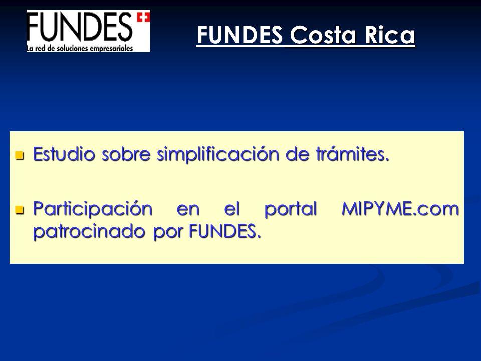 FUNDES Costa Rica Estudio sobre simplificación de trámites.