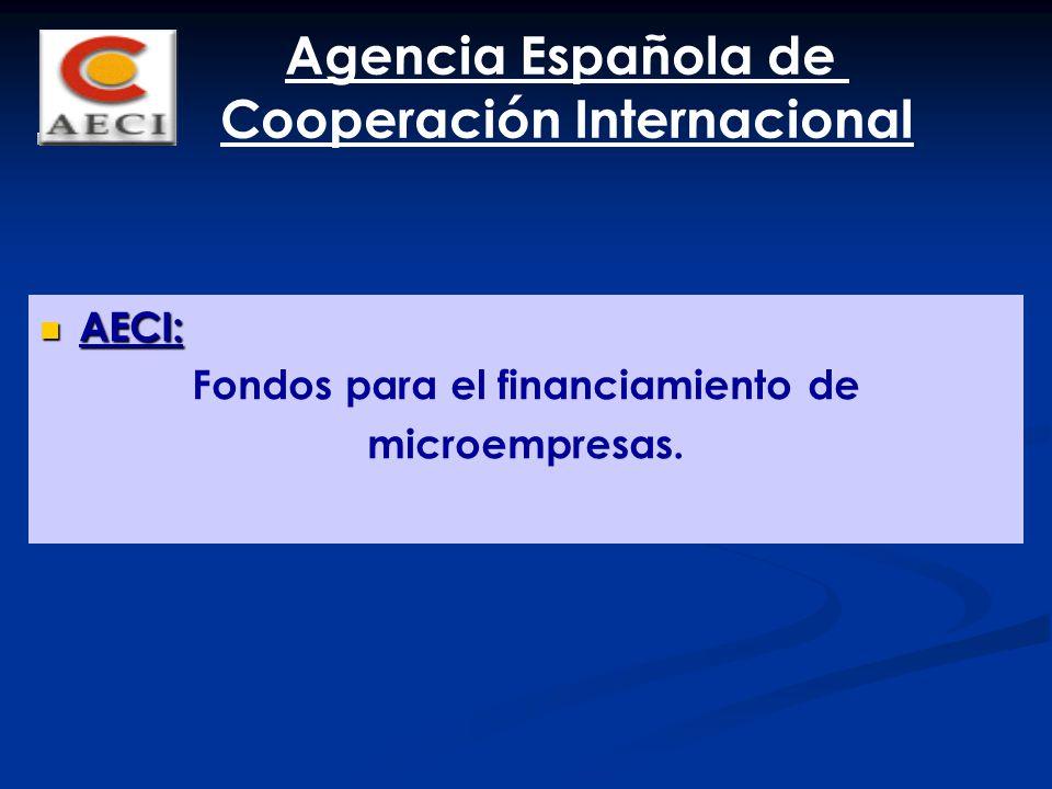 Cooperación Internacional Fondos para el financiamiento de