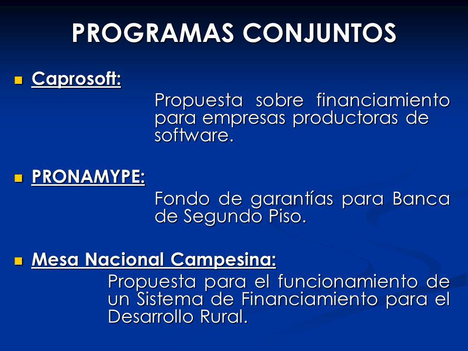 PROGRAMAS CONJUNTOS Caprosoft: