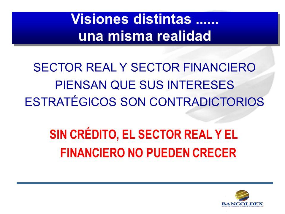 SIN CRÉDITO, EL SECTOR REAL Y EL FINANCIERO NO PUEDEN CRECER