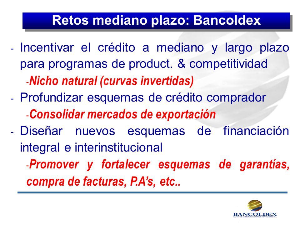 Retos mediano plazo: Bancoldex