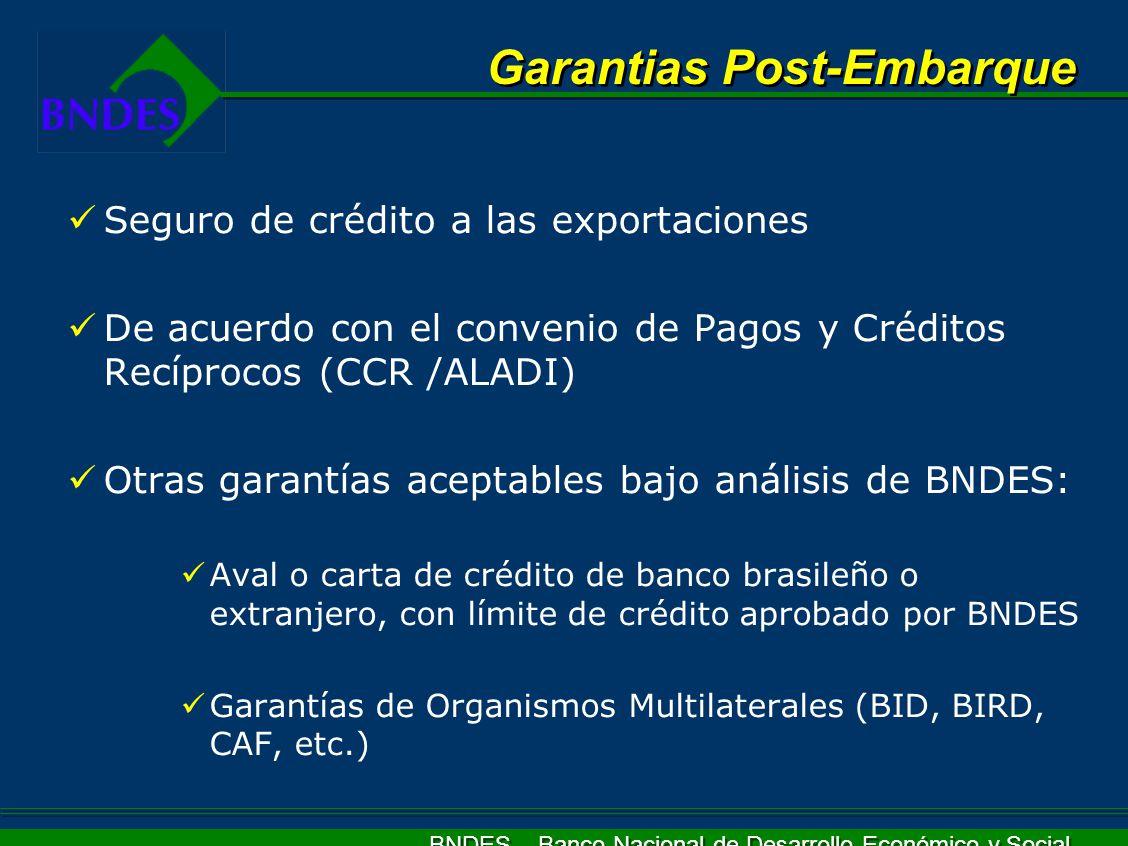 Garantias Post-Embarque