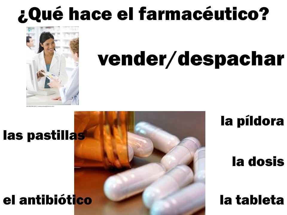 ¿Qué hace el farmacéutico