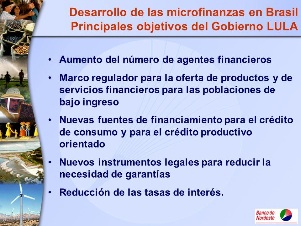 Desarrollo de las microfinanzas en Brasil Principales objetivos del Gobierno LULA