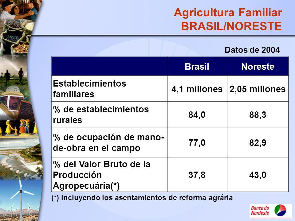 Agricultura Familiar BRASIL/NORESTE Brasil Noreste