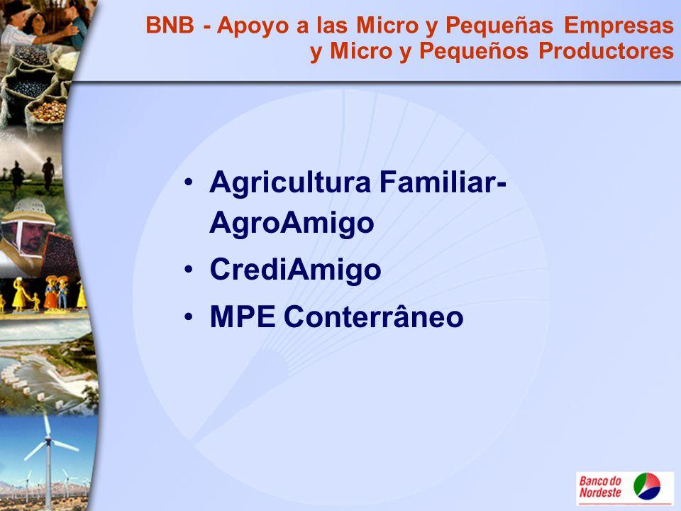 Agricultura Familiar- AgroAmigo CrediAmigo MPE Conterrâneo