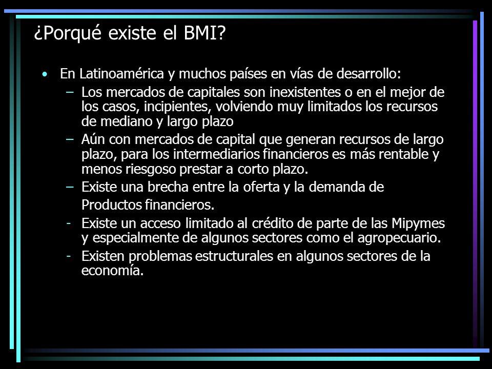 ¿Porqué existe el BMI En Latinoamérica y muchos países en vías de desarrollo: