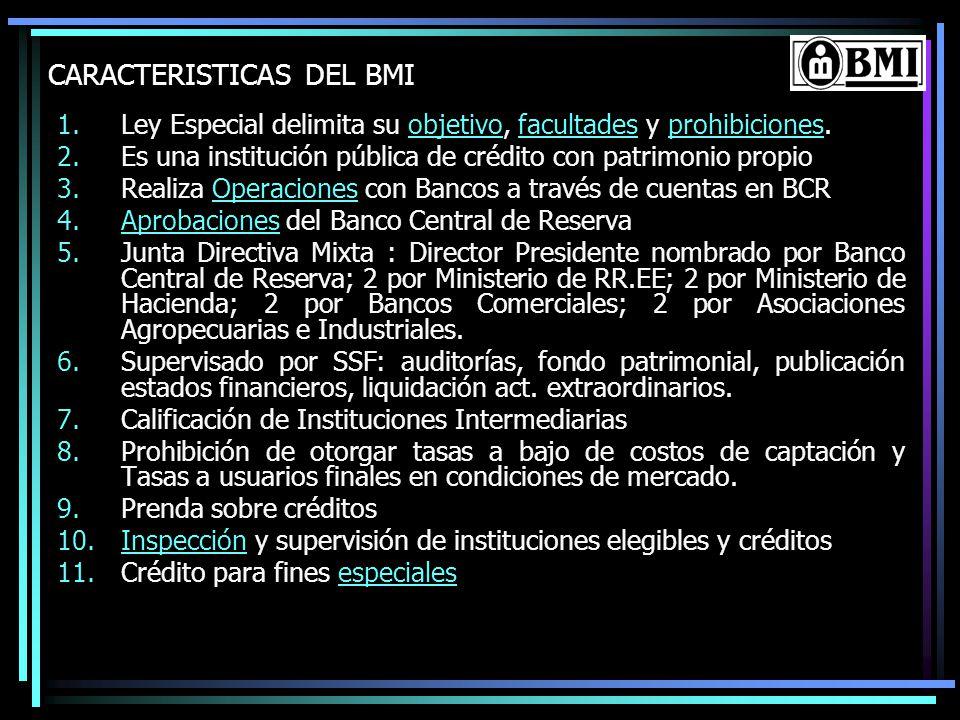 CARACTERISTICAS DEL BMI