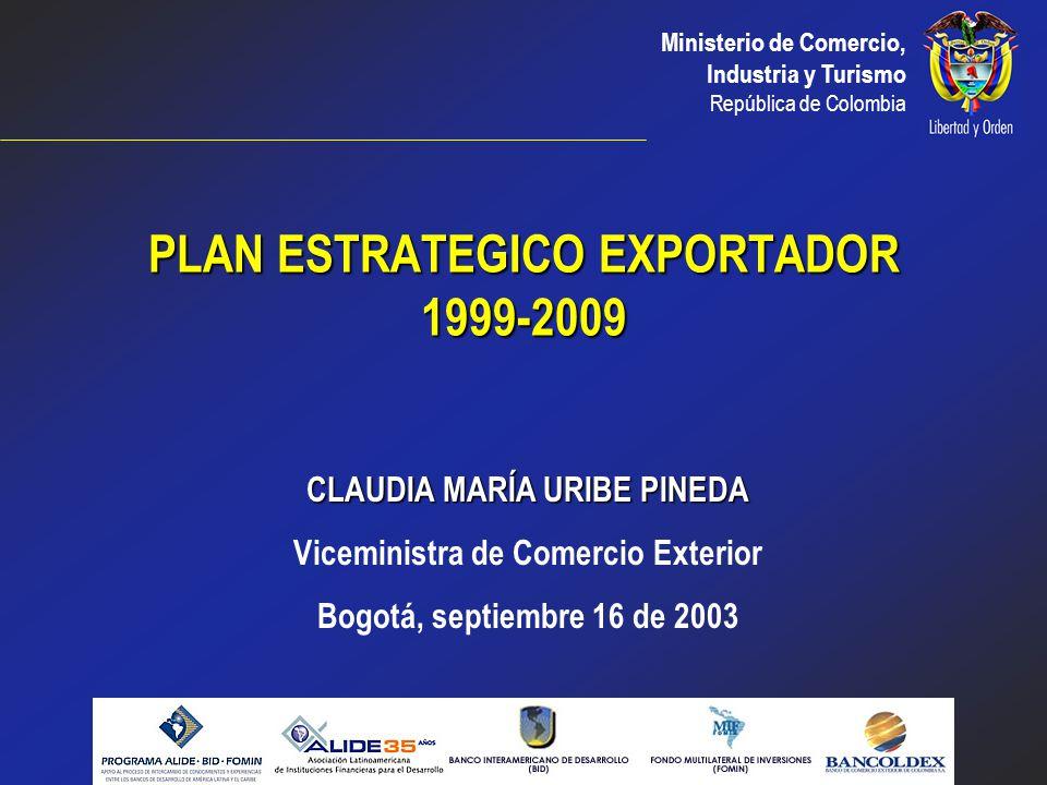 PLAN ESTRATEGICO EXPORTADOR 1999-2009