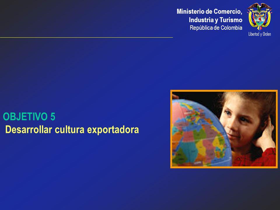 OBJETIVO 5 Desarrollar cultura exportadora