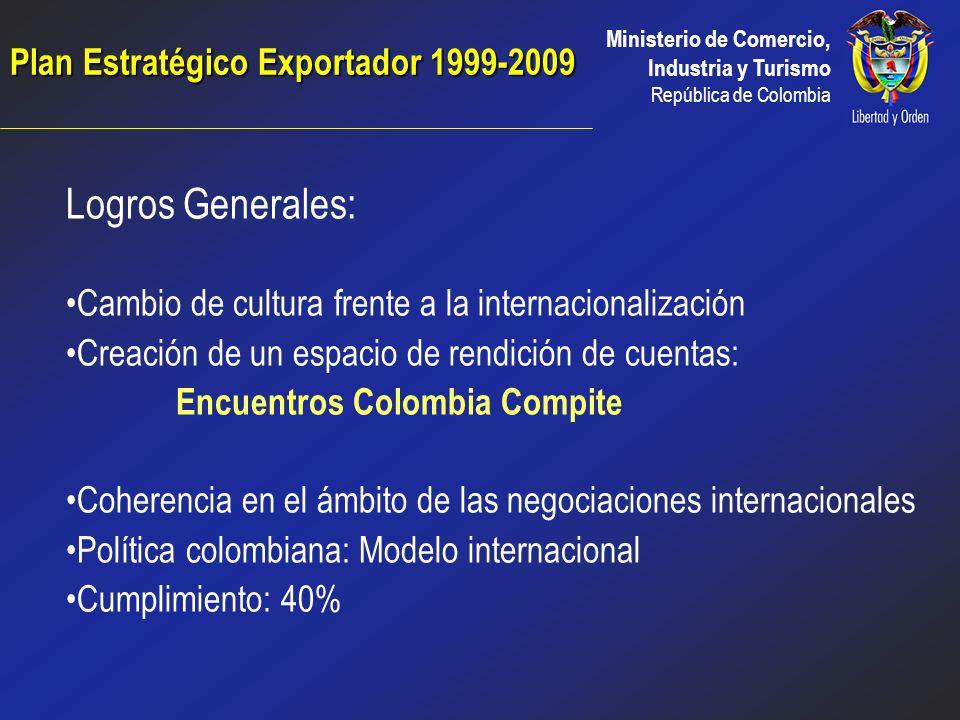 Plan Estratégico Exportador 1999-2009