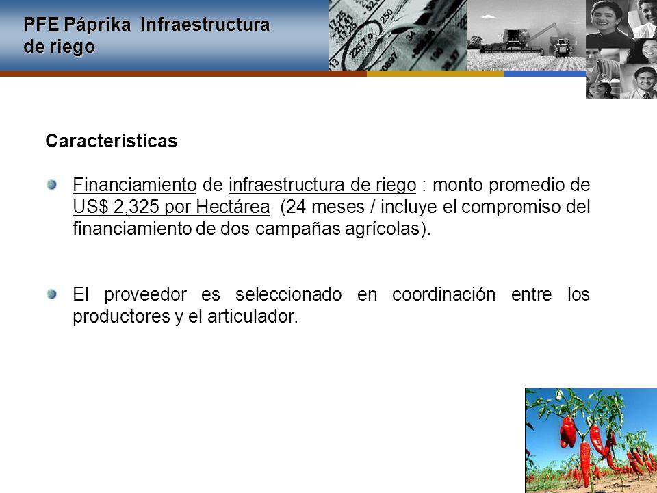 PFE Páprika Infraestructura de riego