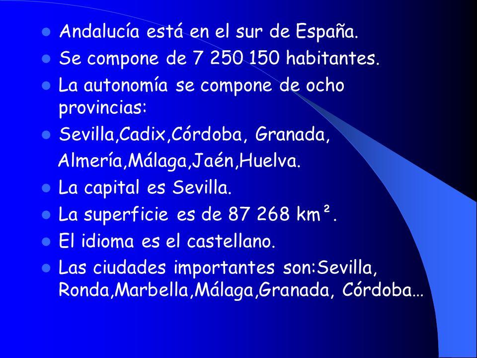 Andalucía está en el sur de España.